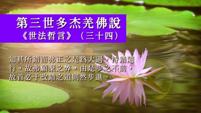 第三世多杰羌佛說《世法哲言》(三十四)