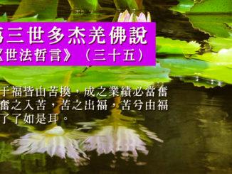 第三世多杰羌佛說《世法哲言》(三十五)