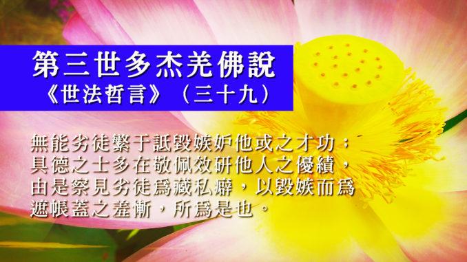 第三世多杰羌佛說《世法哲言》(三十九)2