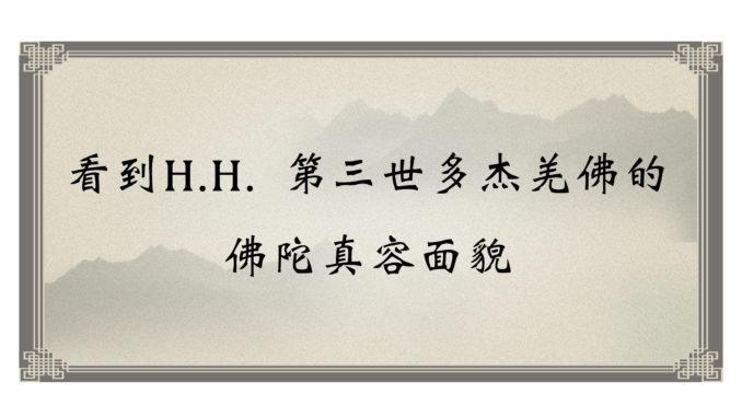 看到H.H. 第三世多杰羌佛的 佛陀真容面貌