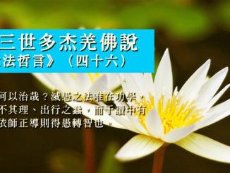 第三世多杰羌佛說《世法哲言》(四十六)