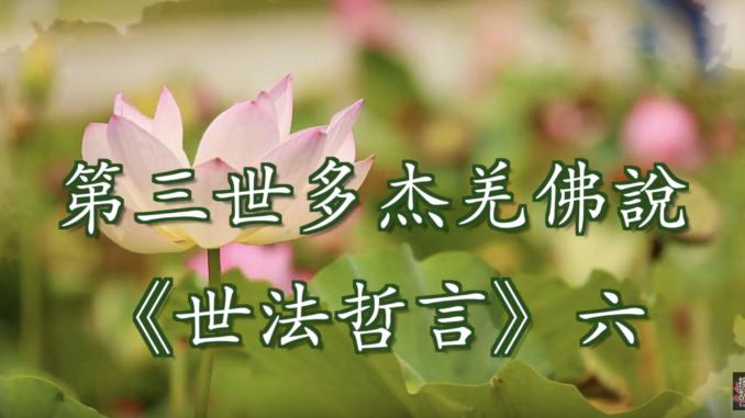 (視頻) 第三世多杰羌佛說《世法哲言》六