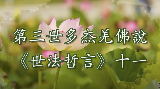 第三世多杰羌佛說《世法哲言》(十一)