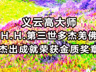 义云高大师 (H.H.第三世多杰羌佛)杰出成就荣获金质奖章
